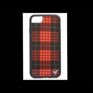 Red plaid Wildflower iphone 6/7/8 case